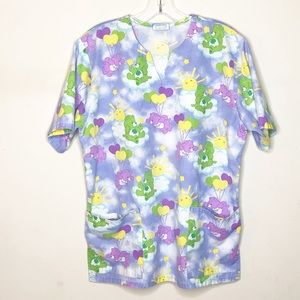 Care Bears 2002 Hospital Scrub Top Size Small
